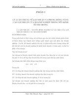 ĐỀ ÁN TỐT NGHIỆP: ĐỀ XUẤT MỘT SỐ BIỆN PHÁP NHẰM NÂNG CAO LỢI NHUẬN TẠI CÔNG TY TINH DẦU VÀ CÁC SẢN PHẨM TỰ NHIÊN