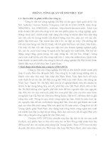 Báo cáo thực tập: Tình hình sản xuất kinh doanh của công ty dệt vải Công nghiệp Hà Nội