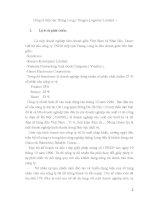 Báo cáo thực tập: Tình hình sản xuất kinh doanh của công tyTiếp vận Thăng Long