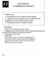 Giáo trình Tiếng Anh chuyên ngành thư ký văn phòng  English for secretaries: Phần 2