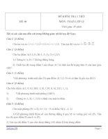 Đề kiểm tra 1 tiết môn toán lớp 12   đề số 10