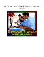 Đề thi IOE tiếng anh lớp 10 vòng 11 năm học 2013  2014