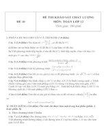 Đề thi khảo sát chất lượng môn toán lớp 12   đề  10