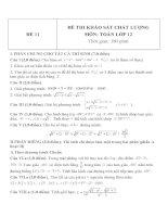 Đề thi khảo sát chất lượng môn toán lớp 12   đề  11
