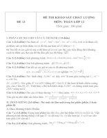 Đề thi khảo sát chất lượng môn toán lớp 12   đề  13