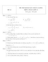 Đề thi khảo sát chất lượng môn toán lớp 12   đề  16