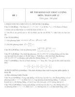 Đề thi khảo sát chất lượng môn toán lớp 12   đề 1