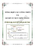 Tổng hợp các công thức và sơ đồ tư duy môn toán (Tài liệu ôn thi THPT Quốc gia)
