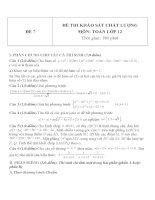Đề thi khảo sát chất lượng môn toán lớp 12   đề  7