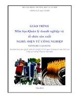 Giáo trình quản lý doanh nghiệp và tổ chức sản xuất   nghề điện tử công nghiệp   trình độ cao đẳng (tổng cục dạy nghề)