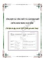 Tổng hợp các công thức (và cách nhận biêt , chứng minh) trong toán hình (Tài liệu ôn thi THPT Quốc gia)