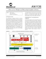 AN1136   how to use widgets in microchip graphics library
