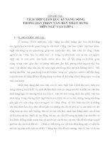 TÍCH HỢP GIÁO DỤC KĨ NĂNG SỐNG TRONG DẠY PHẦN VĂN BẢN NHẬT DỤNG MÔN NGỮ VĂN LỚP 6