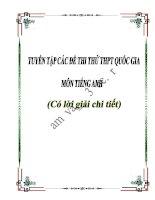 Tuyển tập các đề thi thử THPT Quốc gia môn Tiếng Anh có bình luận chi tiết cực hay