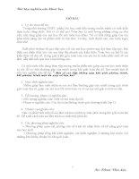 Bài tập nghiên cứu khoa học: Một số sai lầm thường gặp khi giải phương trình, bất phương trình một ẩn quy về bậc hai
