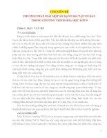 PHƯƠNG PHÁP GIẢI MỘT SỐ DẠNG BÀI TẬP CƠ BẢN TRONG CHƯƠNG TRÌNH HOÁ HỌC LỚP 9