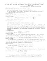 đề thi thử thpt quốc gia 2016 môn toán có đáp án