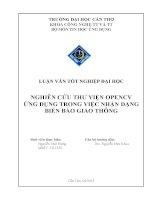 nghiên cứu thư viện opencv ứng dụng trong việc nhận dạng biển báo giao thông