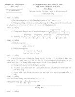 Đề thi học sinh giỏi môn toán 9 tỉnh phú thọ năm học 2014  2015(có đáp án)