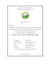 Đánh giá công tác đăng ký đất đai, cấp giấy chứng nhận quyền sử dụng đất trên địa bàn xã Tân Hoa  Huyện Lục Ngạn Tỉnh Bắc Giang giai đoạn 2010 Hết tháng 62014