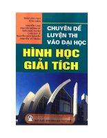 Chuyên đề luyện thi vào đại học Hình học giải tích Trần Văn Hạo