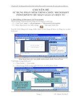 Chuyên đề: Sử dụng phần mềm trình chiếu Microsoft Powerpoint để soạn giáo án điện tử