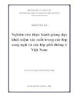 Nghiên cứu thực hành giảng dạy khái niệm xác suất trong các lớp song ngữ và các lớp phổ thông ở Việt Nam