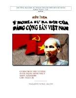 Tiểu luận ý nghĩa lịch sử ra đời đảng cộng sản việt nam