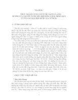 THỰC TRẠNG CUNG CẤP NƯỚC SẠCH VÀ ẢNHHƯỞNG CỦA NGUỒN NƯỚC ĐẾN ĐỜI SỐNG CỘNG ĐỒNG DÂN CƯ Ở LÀNG ĐẠI HỌC QUỐC GIA TP HCM