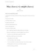 May (have) và might (have)
