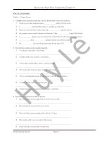 Revison Test For Solution Grade 9