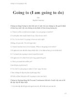 Going to (i am going to do)