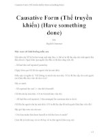 Causative form (thể truyền khiến) (have something done)