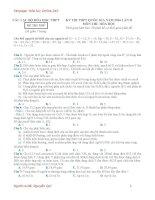 Đề thi thử THPT quốc gia lần 2 môn hóa học năm học 2015  2016