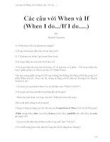 Các câu với when và if (when i do    if i do     )