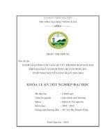 Đánh giá công tác giải quyết tranh chấp về đất đai trên địa bàn xã hợp tiến, huyện đồng hỷ, tỉnh thái nguyên giai đoạn 2011  2014
