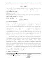 KĨ NĂNG GIẢI MỘT SỐ DẠNG BÀI TẬP VỀ TỔ HỢP XÁC SUẤT CHO HỌC SINH GIỎI SINH HỌC 9