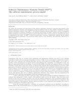 Software Maintenance Maturity Model (SMmm): The software maintenance process model April huffman abran dumke journal 2005