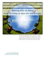 Hướng dẫn sử dụng một số công cụ tiện ích của Google