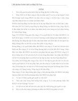 Bài tập học kì môn Luật Lao động Việt Nam