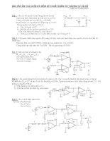 bài tập ôn thi kỹ thuật điện tử tương tự số