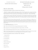 Đáp án đề thi thử THPTQG lần 3 môn Văn - THPT Đoàn Thượng năm 2015