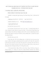 MÔ TẢ MỘT HỆ THỐNG QUẢN LÝ CHUỖI CUNG ỨNG CỦA MỘT DOANH NGHIỆP SẢN XUẤT – CỔ PHẦN MAY NHÀ BÈ