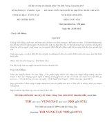 Đề thi vào lớp 10 môn Văn chuyên Vũng Tàu năm 2015
