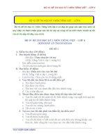BỘ 10 đề THI học kỳ 1 môn TIẾNG VIỆT   lớp 4 (kèm đáp án)