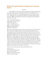 """Cảm nghĩ về bài thơ """"Tiếng gà trưa"""" của Xuân Quỳnh"""