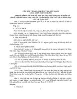 CÂU hỏi và đáp án KIỂM TRA, sát HẠCH THI CÔNG CHỨC TỈNH KONTUM  PHẦN KIẾN THỨC CHUNG