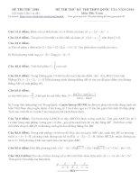 đề thi thử THPT quốc gia 2016 môn toán