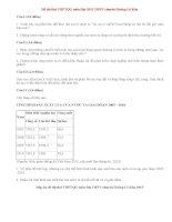 Đề thi thử THPTQG môn Địa THPT chuyên Hoàng Lê Kha 2015