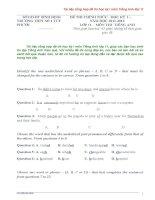 TÀI LIỆU TỔNG hợp đề THI HK1 tiếng anh lớp 11
